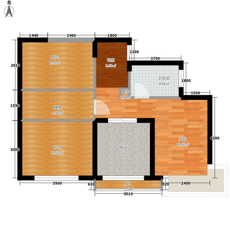 和信广场129.22㎡J2复式二层户型1室1卫