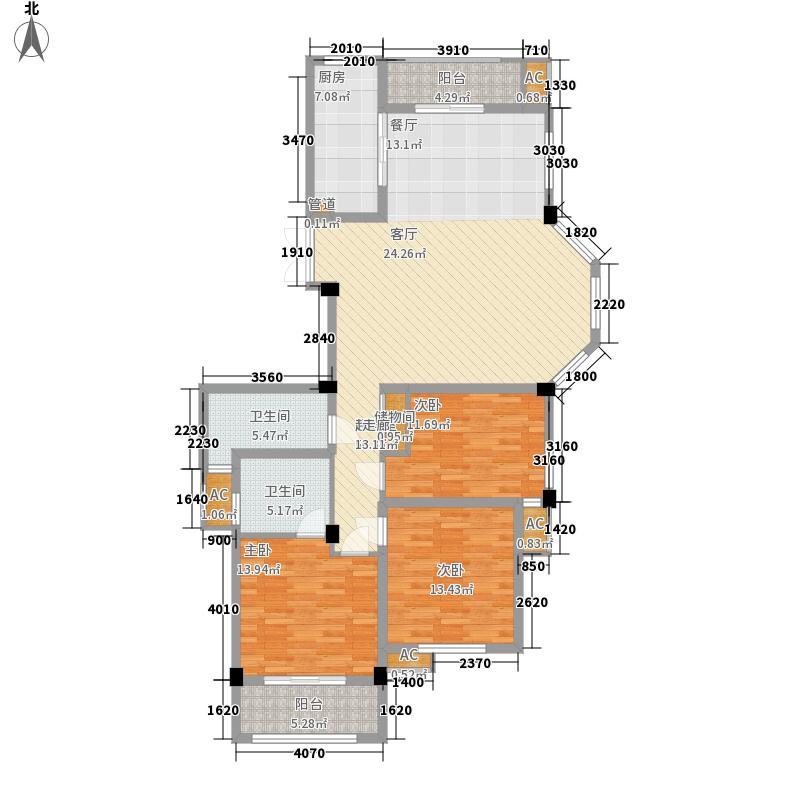水清木华Ⅱ期138.00㎡E3户型3室2厅