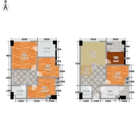 兰花丽景添丁5室1厅3卫1厨121.13㎡户型图