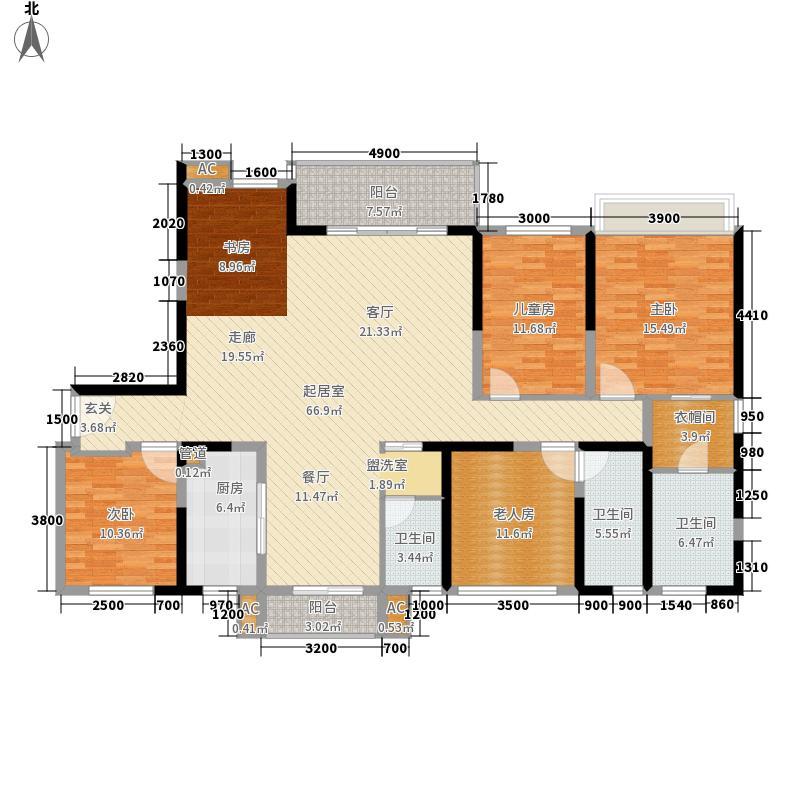 天峦湖152.00㎡2栋B座A1A2户型4室2厅