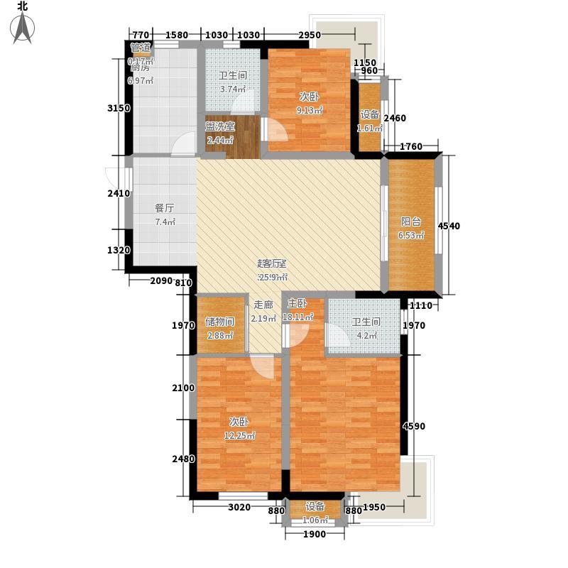 泰盈八千里119.70㎡蓝岸H户型3室2厅