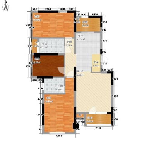 水映加州依云郡3室0厅2卫1厨123.00㎡户型图