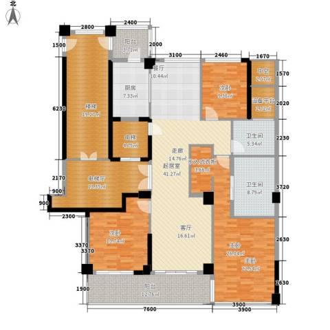 绿城翡翠湖玫瑰园3室0厅2卫1厨170.50㎡户型图
