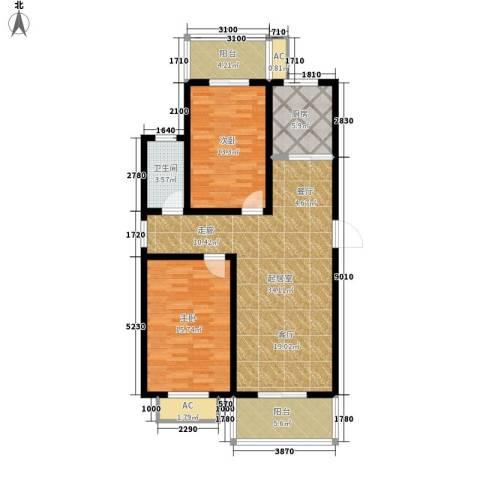 江湾华庭2室0厅1卫1厨92.00㎡户型图
