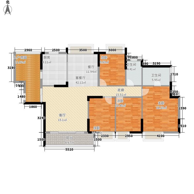 东山京士柏173.44㎡B栋4至13层01单位户型