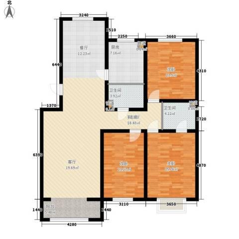 紫云瑞峰3室1厅2卫1厨162.00㎡户型图