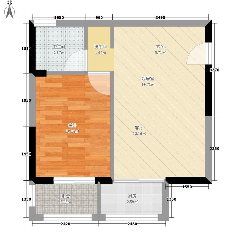 中华坊47.93㎡高层公寓2-18层B户型