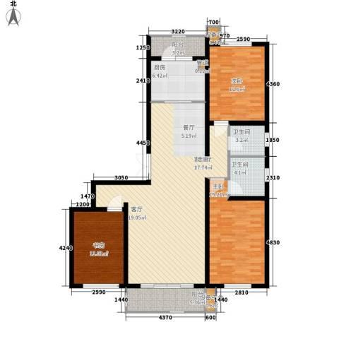 闻都雅苑3室1厅2卫1厨141.00㎡户型图