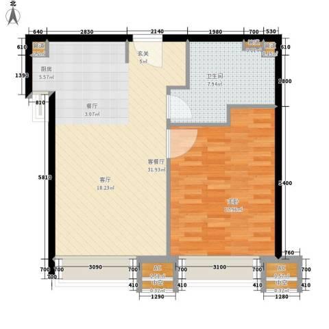 科汇金谷1室1厅1卫0厨67.00㎡户型图