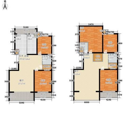 闻都雅苑5室1厅3卫1厨303.00㎡户型图