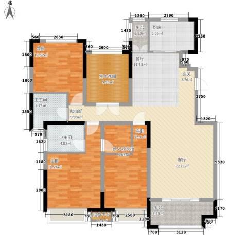 中海紫御东郡3室1厅2卫1厨146.00㎡户型图