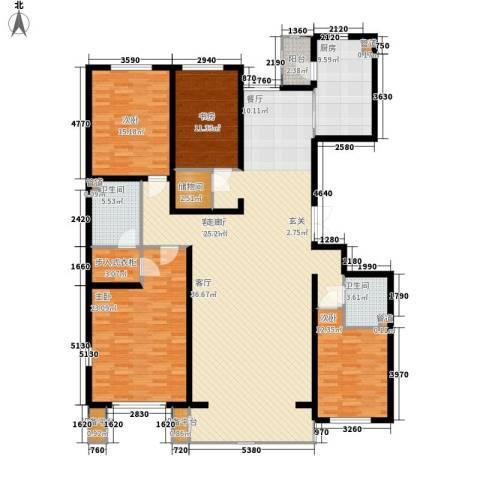 闻都雅苑4室1厅2卫1厨180.00㎡户型图