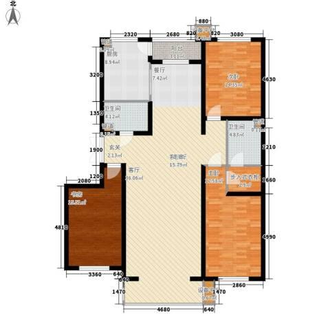 闻都雅苑3室1厅2卫1厨153.00㎡户型图