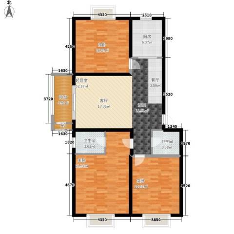 和平世家3室0厅2卫1厨118.00㎡户型图