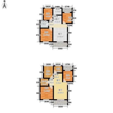 一米阳光美好家园5室0厅2卫2厨191.00㎡户型图