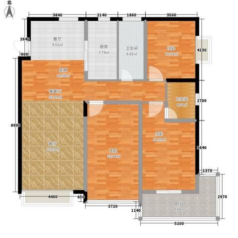 龙洲新城3室1厅2卫1厨188.00㎡户型图