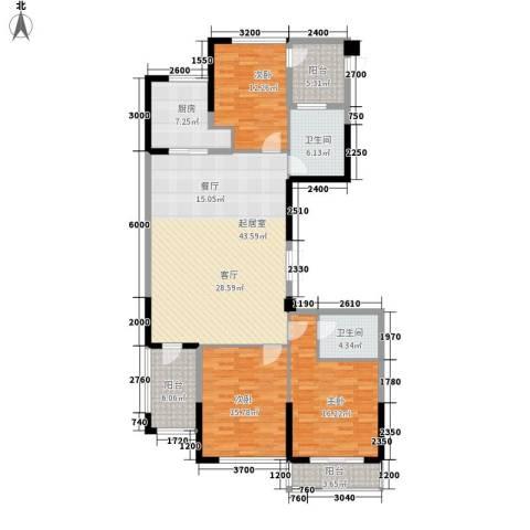 绿城翡翠湖玫瑰园3室0厅2卫1厨164.00㎡户型图