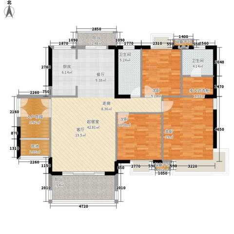 东方豪苑3室0厅2卫0厨131.00㎡户型图