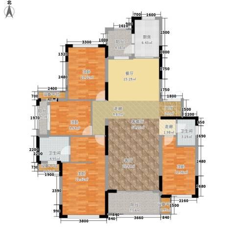 天园假日4室1厅2卫1厨199.00㎡户型图