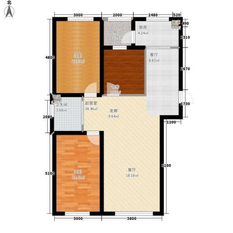 万龙名城3室0厅1卫1厨114.00㎡户型图