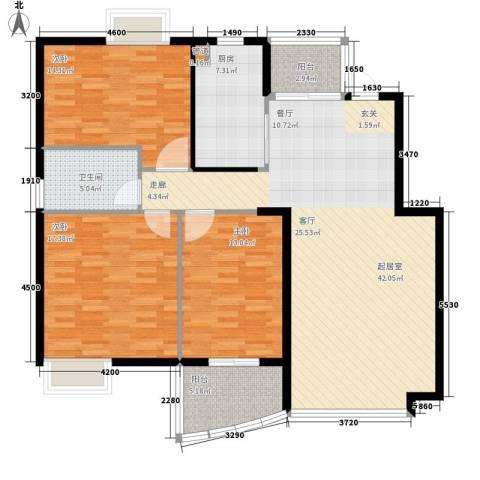 天赐良园3室0厅1卫1厨119.00㎡户型图