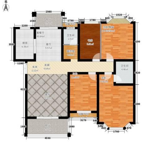 时代帝景4室1厅2卫1厨176.00㎡户型图