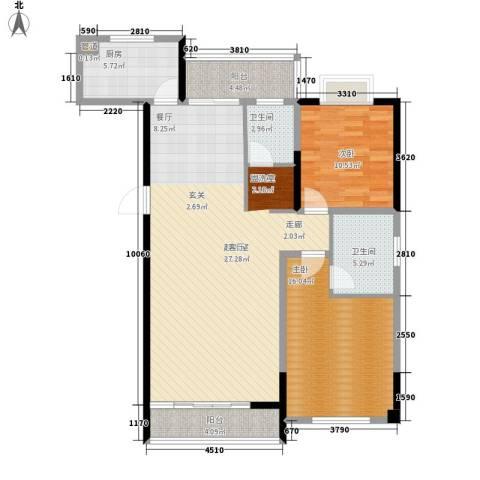 麓景裕园2室0厅2卫1厨121.00㎡户型图