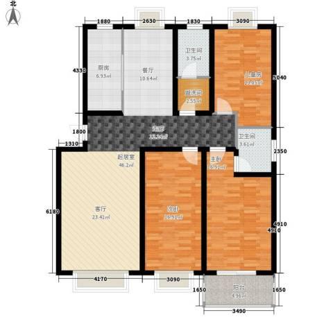 和平世家3室0厅2卫1厨130.00㎡户型图