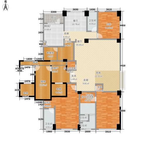 鑫海花园3室1厅5卫0厨308.00㎡户型图