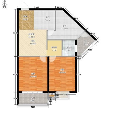 天福园2室0厅1卫1厨99.00㎡户型图