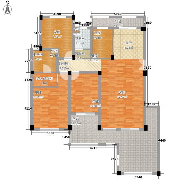 绿都万和城141.45㎡电梯洋房H2户型