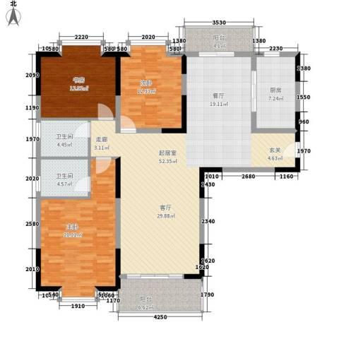 闽东国际城3室0厅2卫1厨140.00㎡户型图