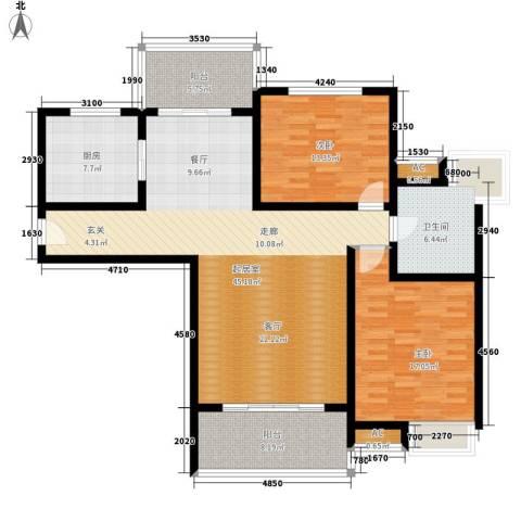 鸿城・铂兰湾2室0厅1卫1厨121.00㎡户型图