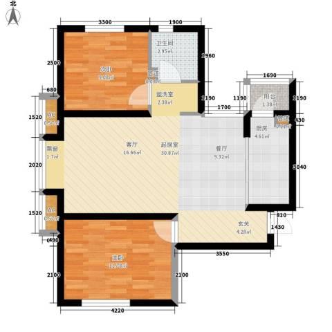 闽东国际城2室0厅1卫1厨90.00㎡户型图