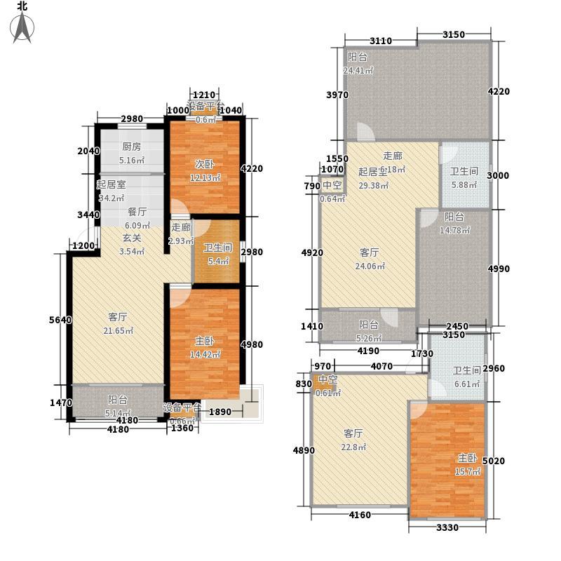 名丰山海文园94.00㎡一期多层B户型2室2厅
