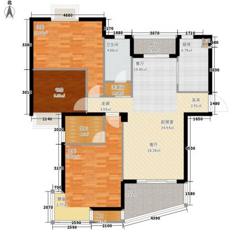 天赐良园3室0厅1卫1厨125.00㎡户型图