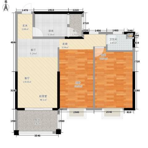 吉粮康城1室0厅1卫1厨95.00㎡户型图