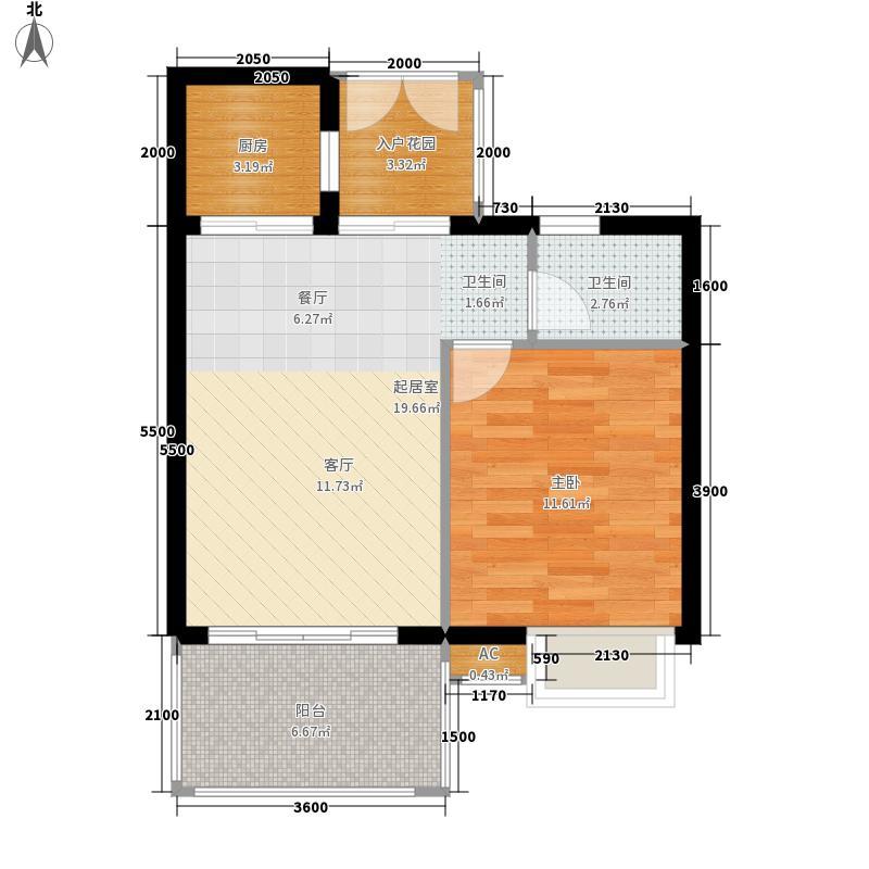 博鳌经典48.90㎡公寓舒适型户型