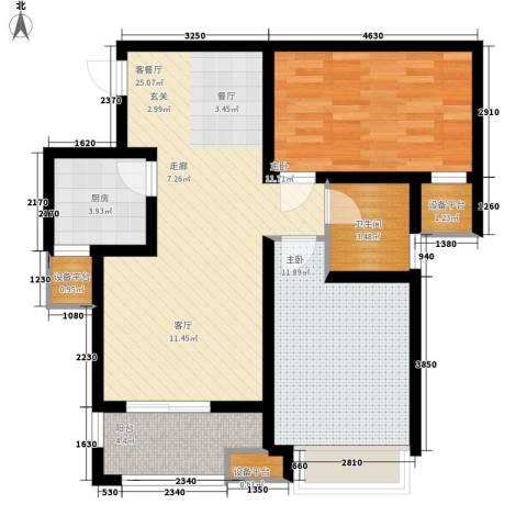 奥林匹克花园2室1厅1卫1厨74.00㎡户型图