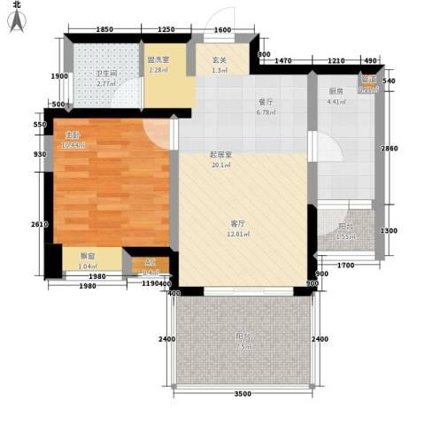 闽东国际城1室0厅1卫1厨70.00㎡户型图