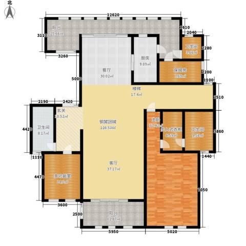 中隆国际御玺1室0厅3卫1厨538.00㎡户型图