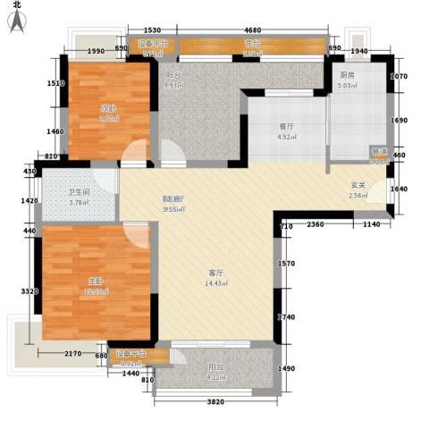省人防办宿舍2室1厅1卫1厨178.00㎡户型图