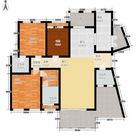 中隆国际御玺3室0厅3卫1厨179.00㎡户型图