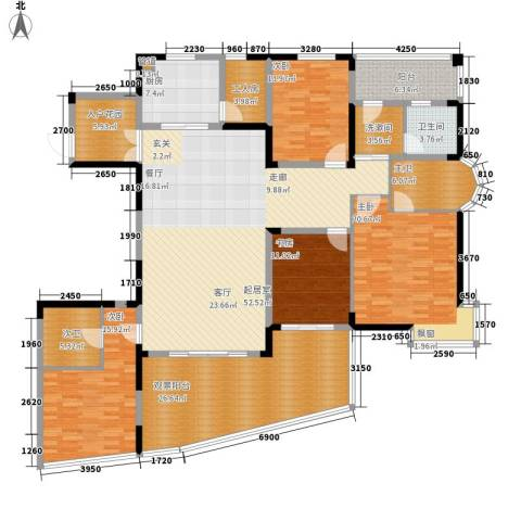 华盛世纪新城4室0厅1卫1厨256.00㎡户型图