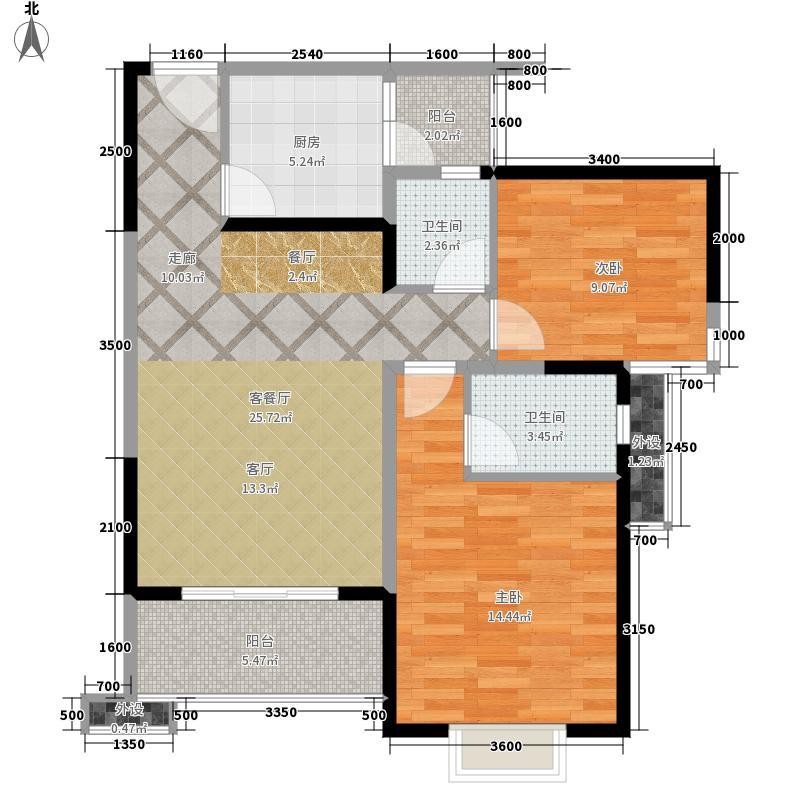 红枫岭88.97㎡三期枫和苑B4型标面积8897m户型