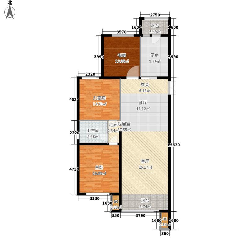 鲁商松江新城137.00㎡户型2室2厅