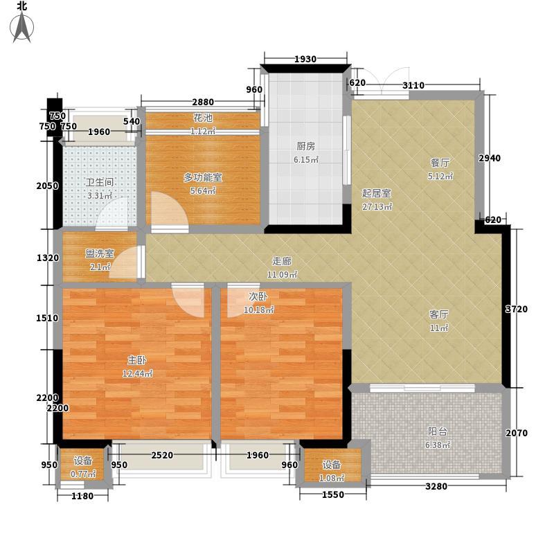 艾菲国际87.00㎡一期1#、4#楼标准B2户型