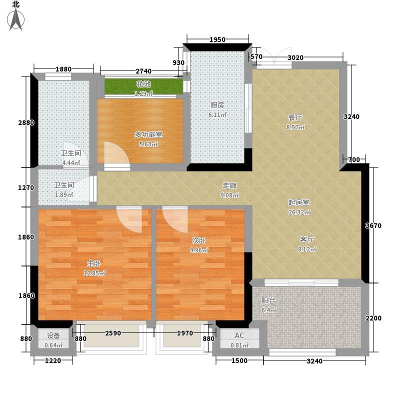 艾菲国际89.00㎡一期1#、4#楼标准C2户型
