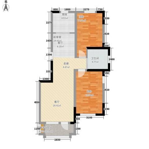 鲁辉国际城2室0厅1卫1厨94.00㎡户型图