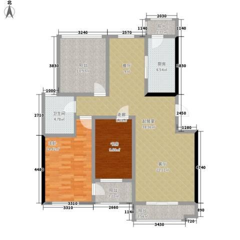 朝阳绿茵 朝阳上品2室0厅1卫1厨133.00㎡户型图